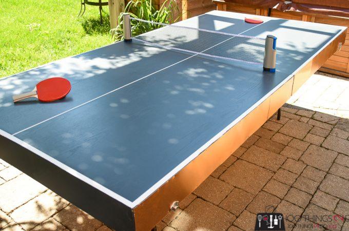 Folding ping pong table, DIY ping pong table, ping pong table, how to make a collapsible ping pong table