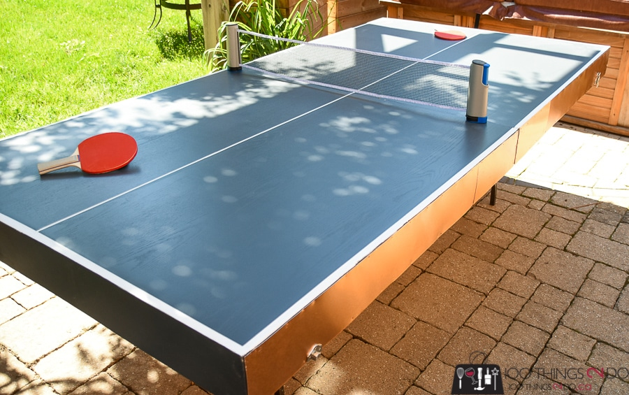 How To Make A Diy Folding Ping Pong Table Half The Cost Of