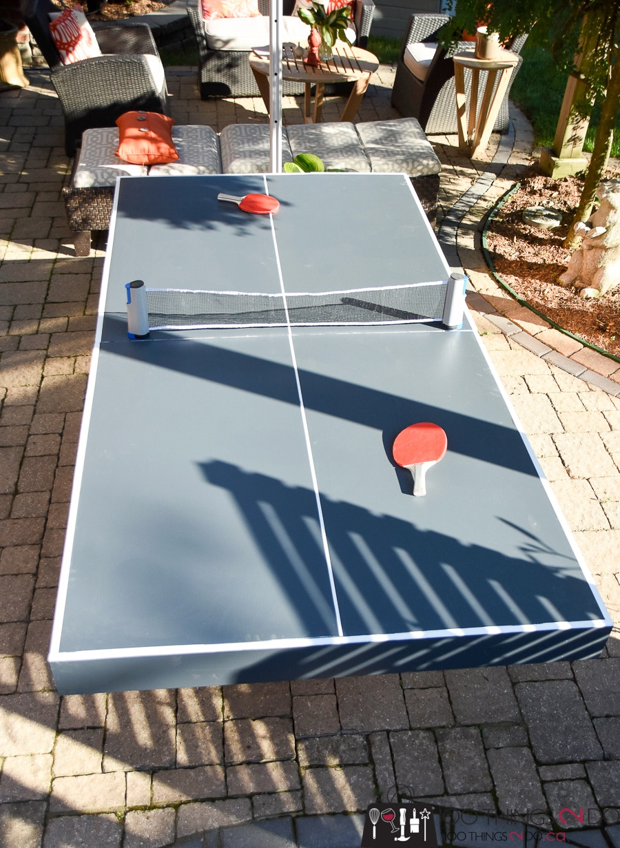 How To Make A Diy Folding Ping Pong Table Half The Cost