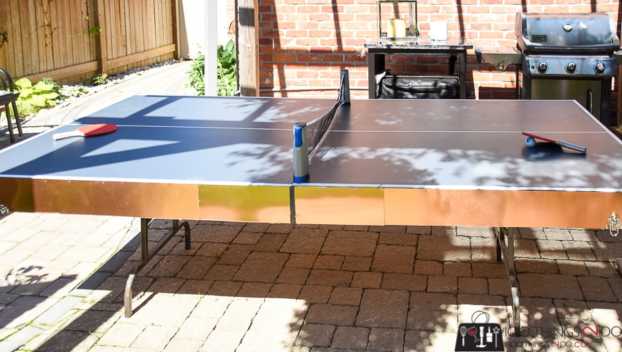 Folding ping pong table, DIY ping pong table, ping pong table, how to make a collapsible ping pong table
