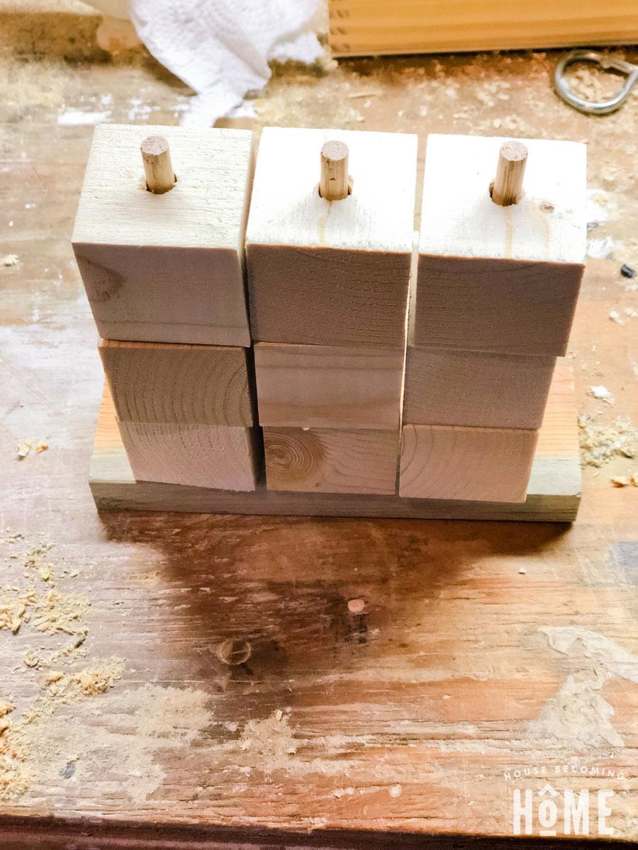 Scrap wood puzzle unfinished