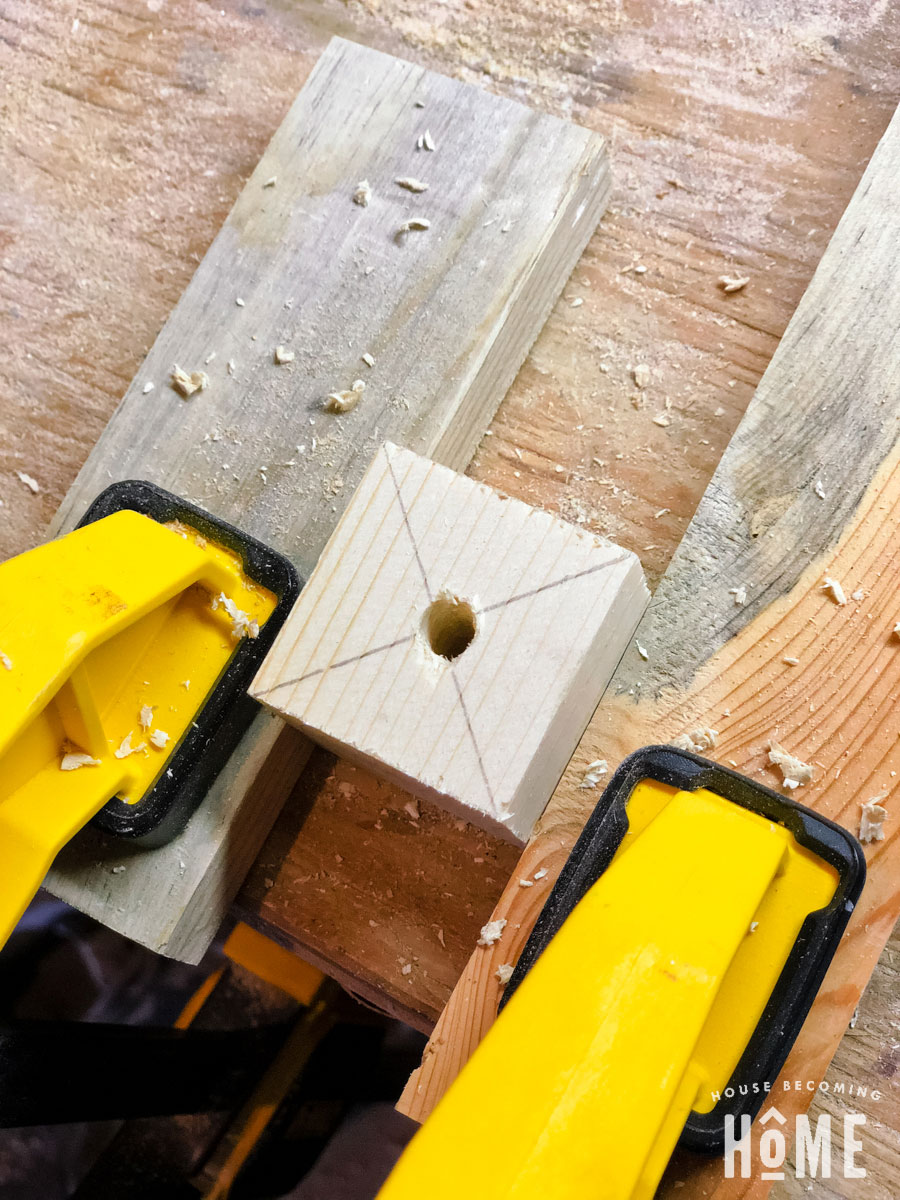 center drilled in 2x2 scrap