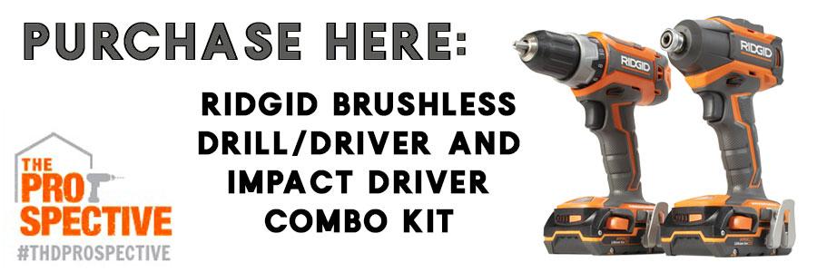Ridgid 18v Brushless Drill Driver And Impact Combo Kit