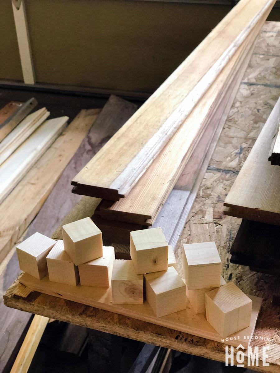 scrap 2x2 pieces cut into blocks