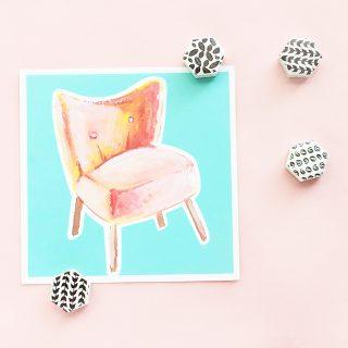 DIY Patterned Magnets From Leftover Or Sample Tiles