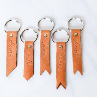 How to make a DIY leather keychain