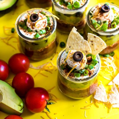 Mexican Layered Dip Mini Pots