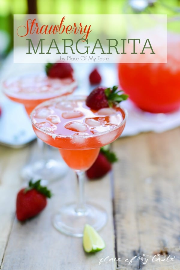 Strawberry Margarita is perfect with Mexican Dip