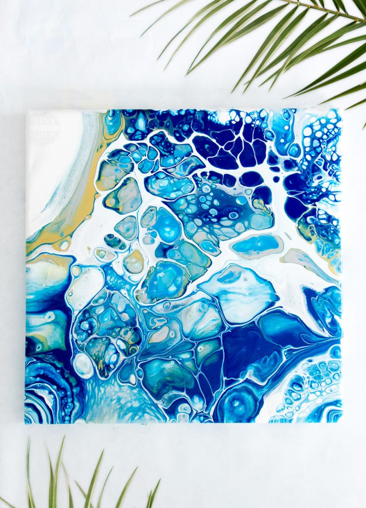 Create easy art with simple acrylic pouring techniques anyone can do