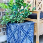 Mud Cloth Painted Planter