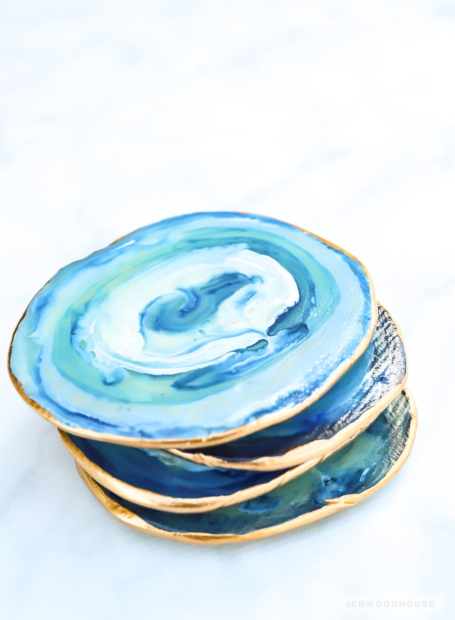How to make DIY geode agate coasters