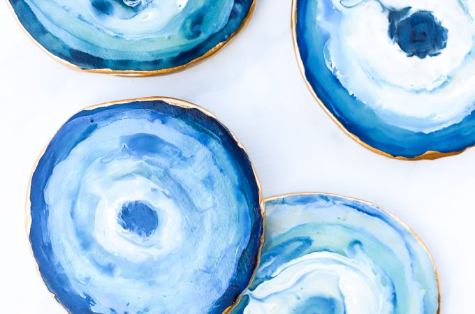 How to make DIY agate coasters with polymer clay