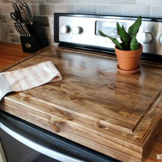 DIY Wooden Stove Top Cover