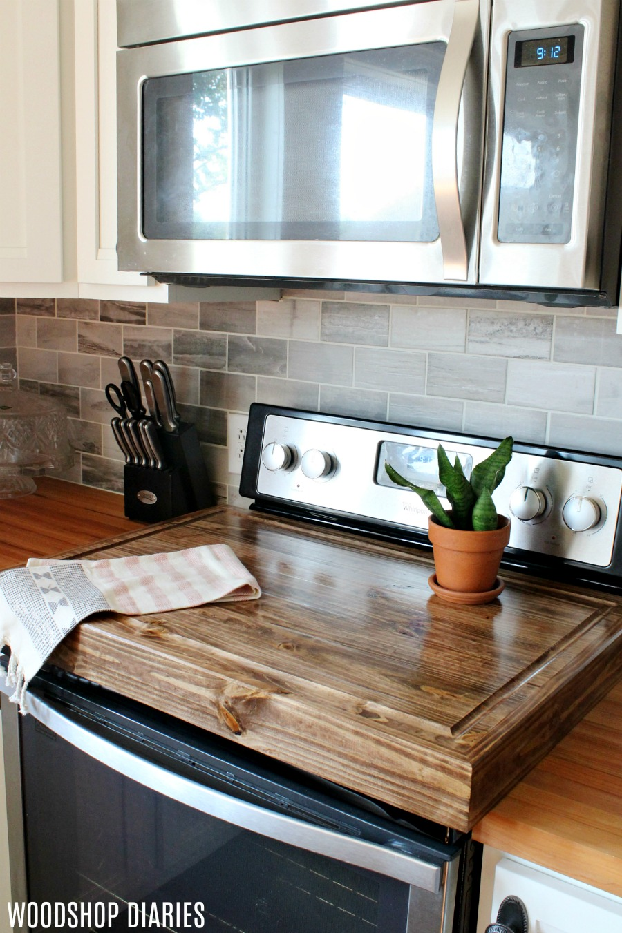 Build Your Own Stove Top Cover Cutting Board With Juice Groove