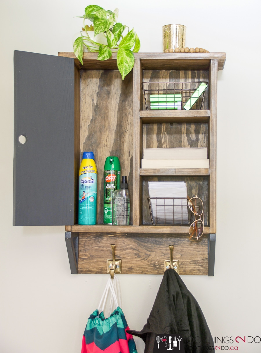 How to make a DIY wall shelf organizer