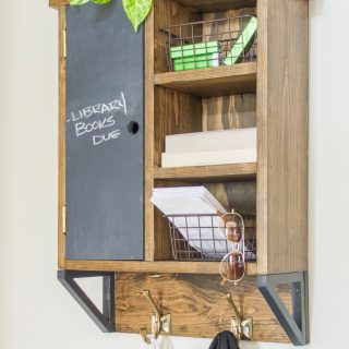How to build a DIY wall organizer shelf with hooks and storage