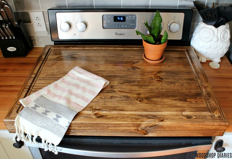 How to Build a Stove Top Cover with Juice Groove