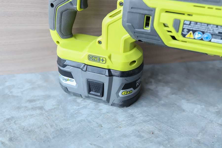 Tool review of the RYOBI 6AH battery