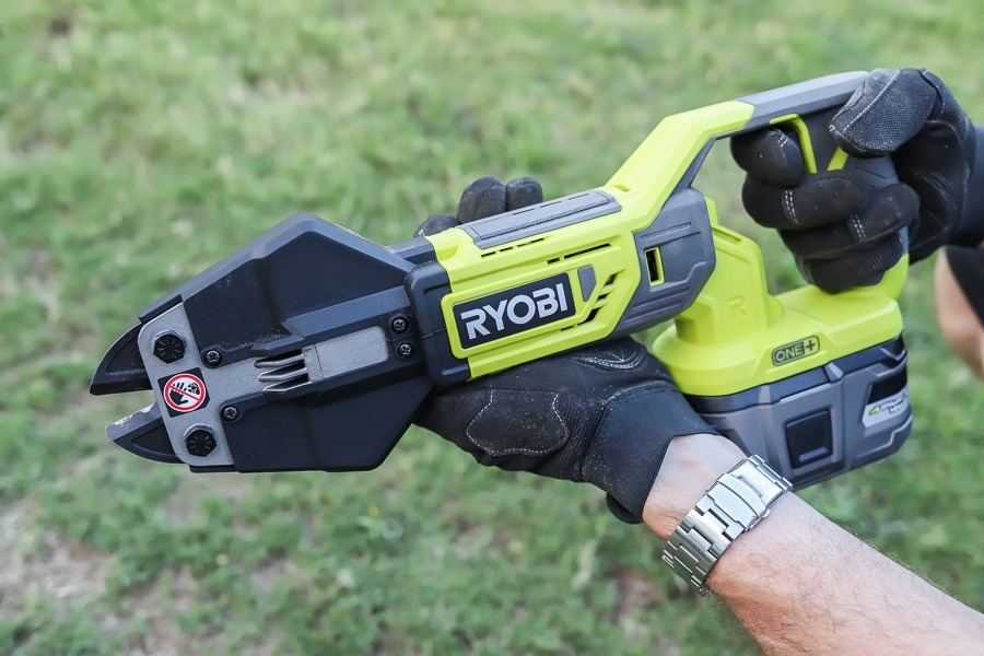 Tool Review of the new RYOBI 18v Bolt Cutters + 6.0AH Lithium Battery