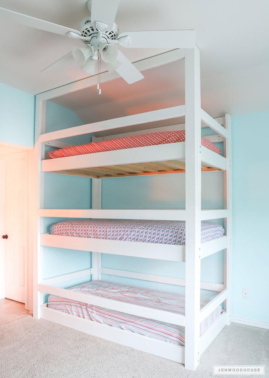 DIY bunk beds for multiple kids