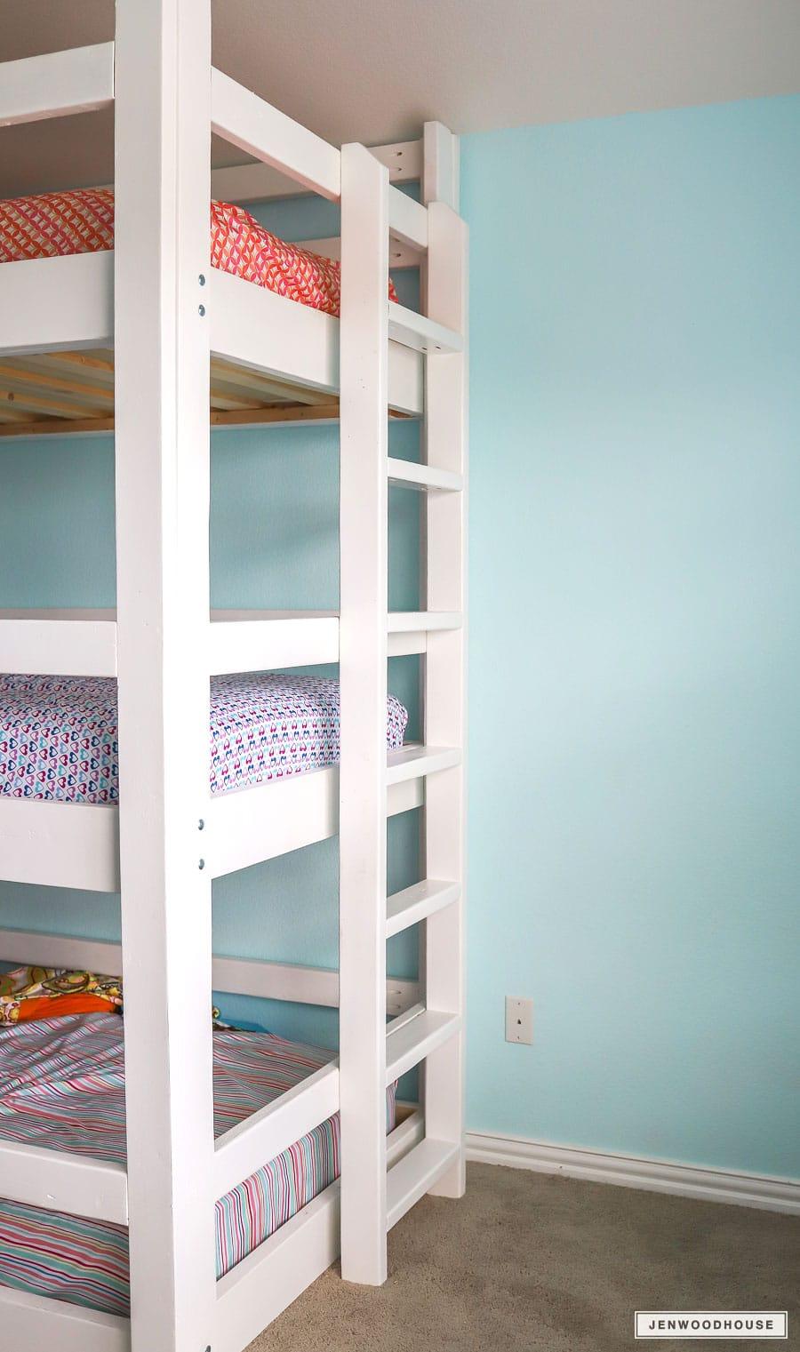 DIY triple bunk bed build