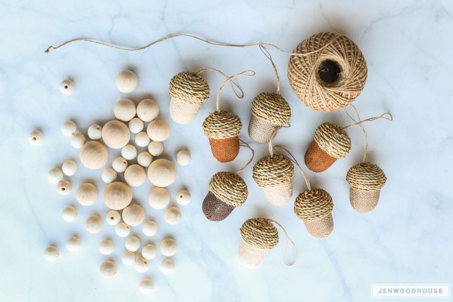 DIY acorn garland tutorial