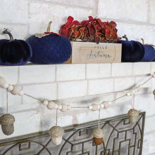 How to make a DIY Acorn Garland - perfect for Fall decorating!