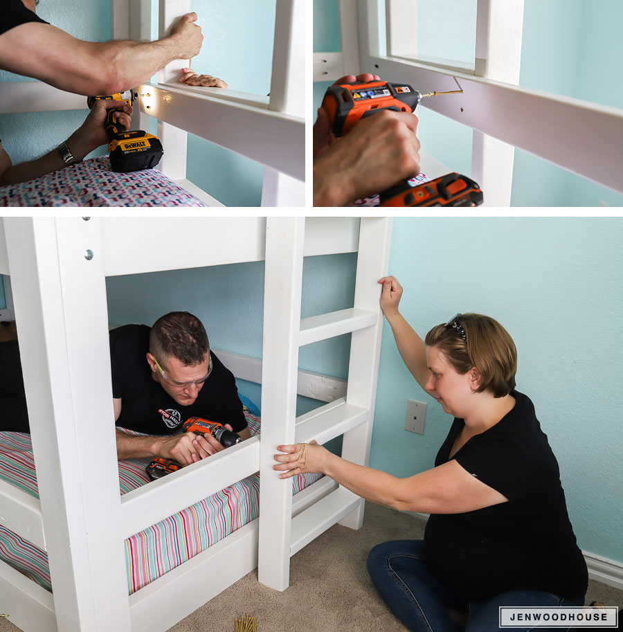 Triple bunk bed project