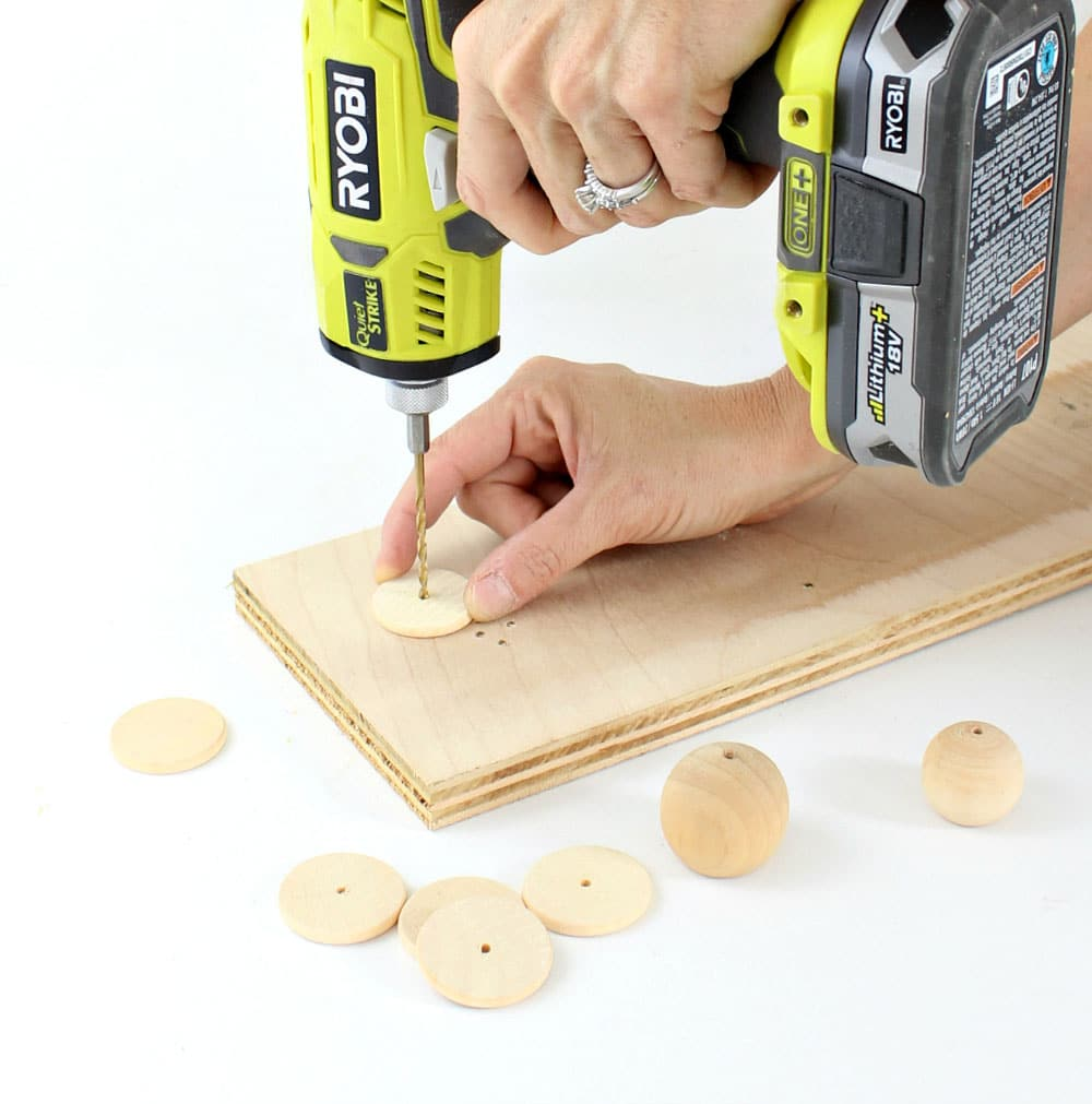 drilling holes into wood pieces