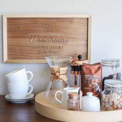 DIY Coffee Shop Sign