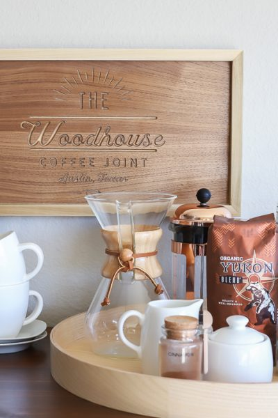 How to make a DIY wood personalized coffee shop sign