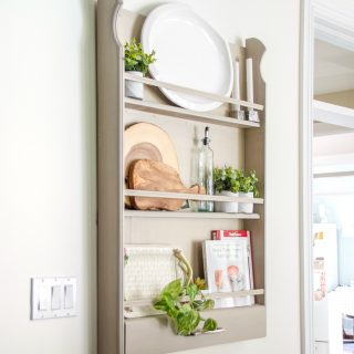 How to build a DIY plate rack