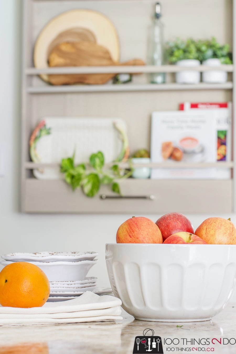 A scrap wood project never looked so good! Build a DIY plate rack with these plans!