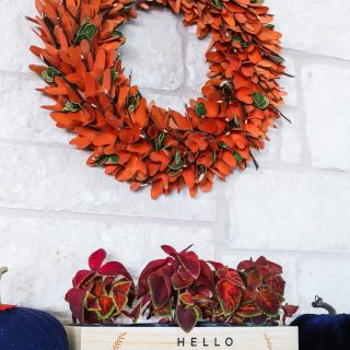 Navy and Burnt Orange Fall Mantel