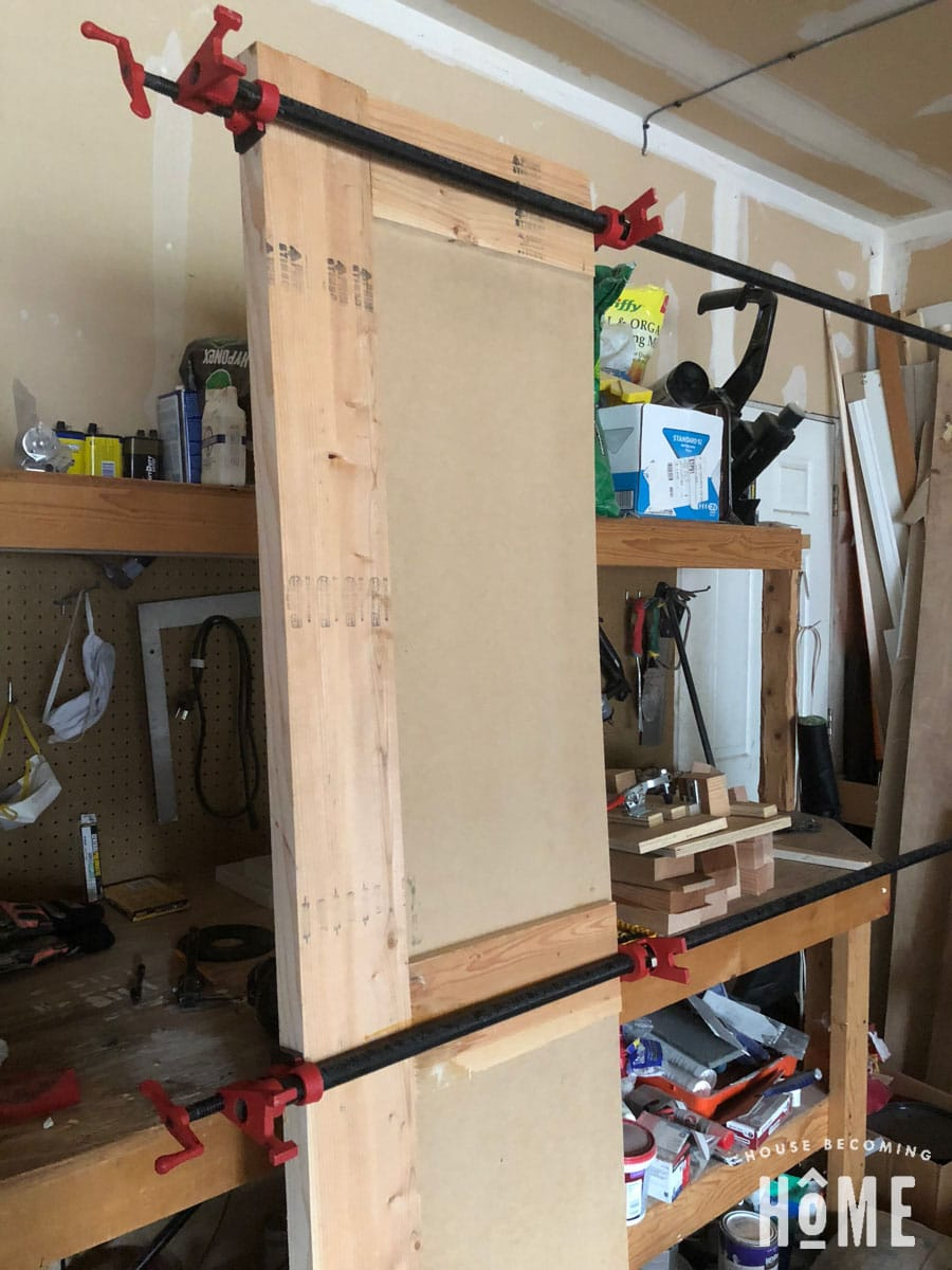 Pipe Clamp DIY door
