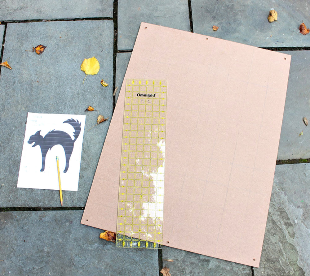 making a grid on MDF