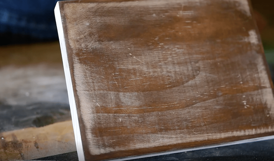 Weathered, farmhouse finish - tutorial how to make new wood look old and rustic