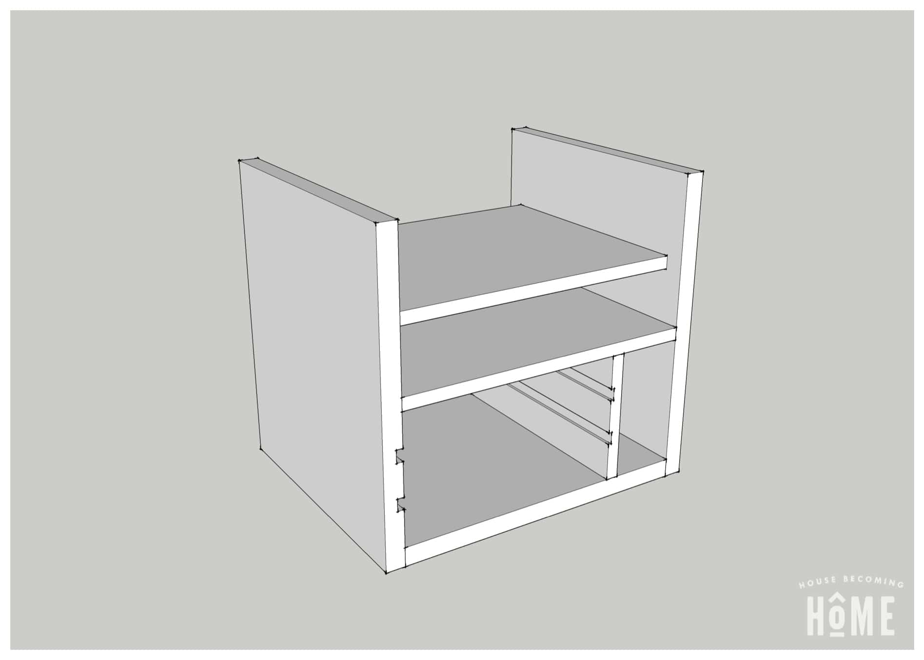 Charging Station Plans Vertical Shelf
