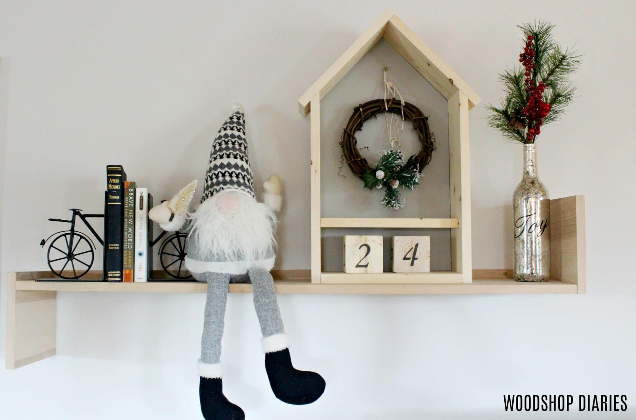 DIY Christmas Advent Calendar Countdown Shelf