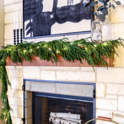 DIY Wood Mantel