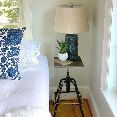 DIY Nightstand From an Old Stool