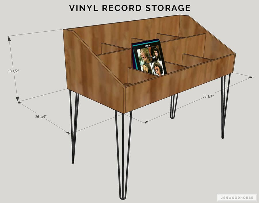 Project Plans for 8 Cubby Vinyl Record Storage
