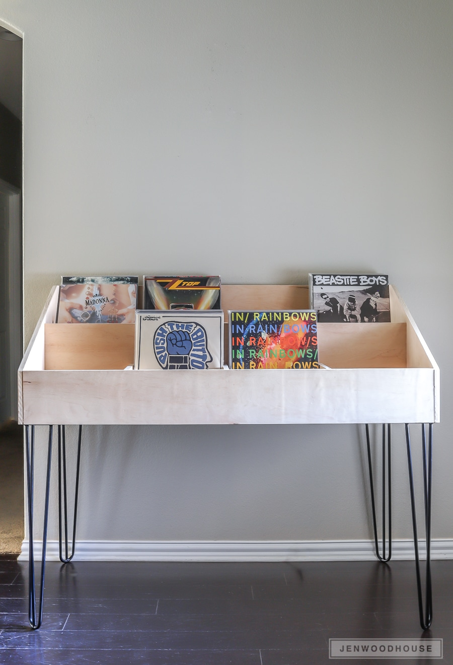 How to build a DIY vinyl record cabinet storage display
