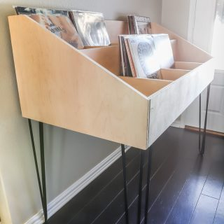 How to build a DIY vinyl record cabinet storage display for $200