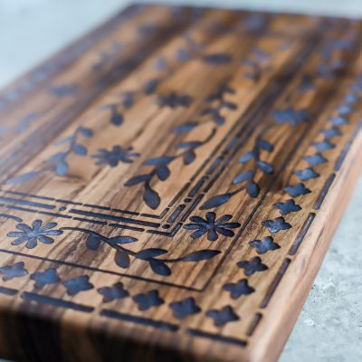 How to make a walnut cutting board with an intricate inlay design