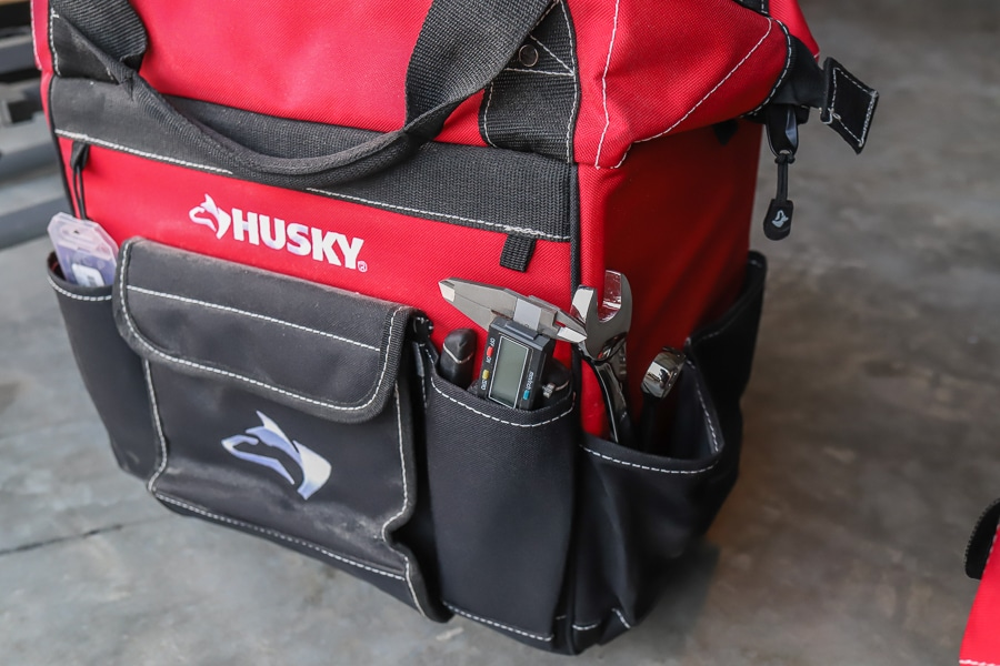 Tool review of Husky's rolling tool bag