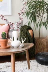 vase styled on coffee table