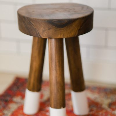 How to make a DIY walnut dip-dyed stool