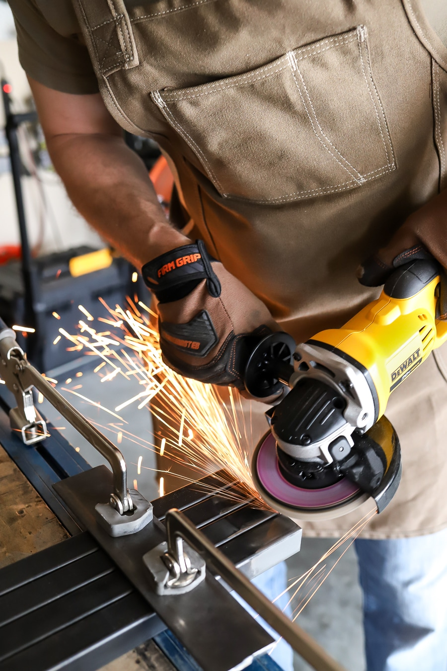 Firm Grip Gloves Dewalt Angle Grinder