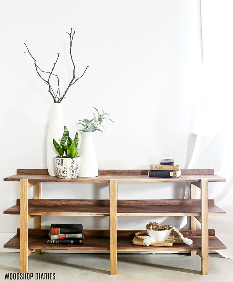 How to build a DIY stacked console shelf for less than $100!